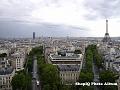 Turnul Montparnasse si Turnul Effel privite din arcul de triumf